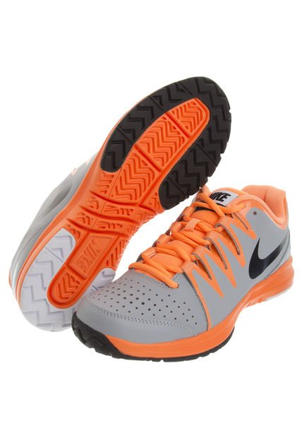 Zapatillas Nike Gris Y Naranja