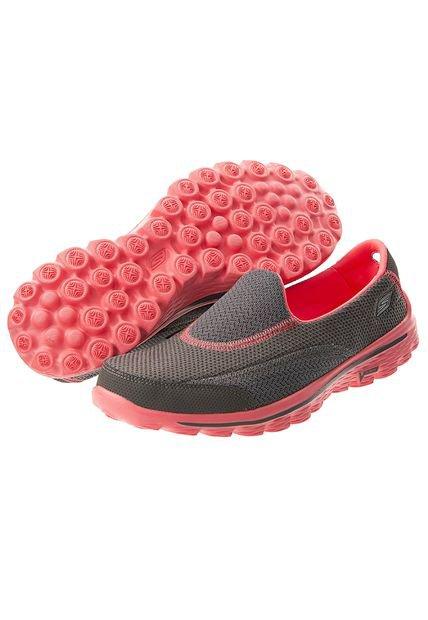 Running Skechers Go Walk 2 Gris/Naranja , Compra Ahora